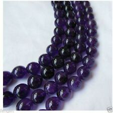 4-10mm Russican Amethyst Gemstone Round Loose Beads 15''