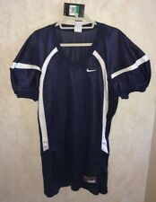 NEW Mens XL NIKE Crack Back Game Mesh Navy Blue White Football Jersey Practice