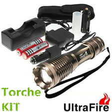 UltraFire 2000lm CREE XM-L T6 LED Zoomable Zoom 18650 AAA Lampe Poche Torche Kit