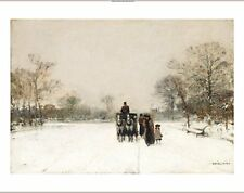 """LUIGI LOIR """"In Snow"""" landscape print ON CANVAS choose SIZE, from 55cm up, NEW"""