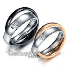 Titanium Rings Stainless Steel Lover Engagement Wedding Set Band Matching DF1057