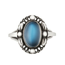 Georg Jensen Silver Ring with Moonstone - Moonlight Blossom #1A - Heritage Coll.