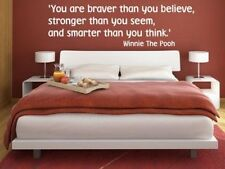 Stunning Winnie The Pooh wall quote charming high quality wall sticker