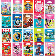 Disney Children's Cartoon Characters Birthday Party Plastic Loot Gift Treat Bags