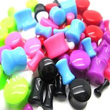 3MM - 12MM EAR PLUG SADDLE TAPER STRETCHER EXPANDER FLESH TUNNEL ACRYLIC FLARE