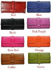 Ladies Womens Faux Leather Tri fold Wallet Purse Clutch Bag Accessory black red