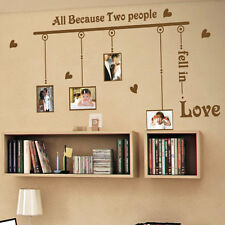 All Because Two People Fell Wall Quotes stickers Wall Decals Photo Frame Sticker