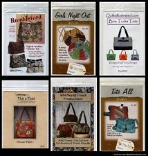 ASSORTMENT OF TOTE BAGS, HANDBAGS, PURSE SEWING PATTERNS