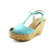 Biviel 3656 Womens Leather Wedge Sandals Shoes