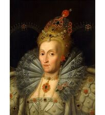 MARCUS GHEERAERTS Queen Elizabeth I JEWELLED finery royalty NEW CANVAS PRINT!!