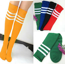 CHAEAP~ Men WOMEN Football Running Knee High Stripe Tube Sport Soccer Socks