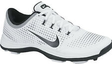 Nike Lunar Cypress Spikeless Golf Shoes 652522-100 White 2014 Mens New