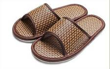 1 X High Quality Women Men Rattan  Indoor Cool Slippers Home Slippers