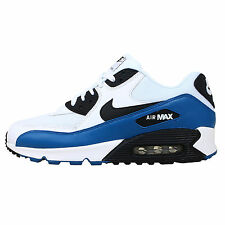 Nike Air Max 90 Essential White Black Blue 2014 New Mens Running / Casual Shoes