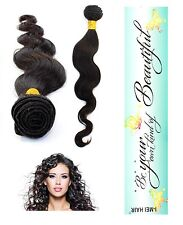 100% Peruvian Human Hair Extension Virgin Remy Bundle Body Wave Unprocessed 6A