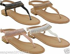 WOMENS LADIES BUCKLE FLAT SUMMER CAUSAL TOE BEACH SANDALS SHOES SIZES