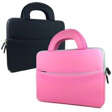 "Slim Shock Proof Sleeve Case Carrying Bag with Handles for 9"" 9.7"" Tablets"