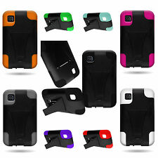 Shock Proof Hybrid Kickstand Phone Cover Case for LG Optimus Dynamic II 2