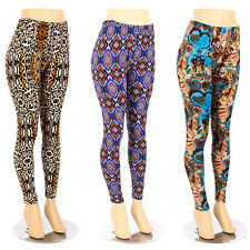 Plus Size Print Leggings Color Tribal Pattern Sexy Ladies Stretch Pants 1X 2X 3X