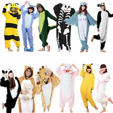 Kigurumi Pajamas Anime Cosplay Costume Unisex Adult Onepiece Animals  S-XL
