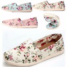 New Style Women Floral Female Single Shoes Leisure Canvas Flat Heel Loafer Shoes