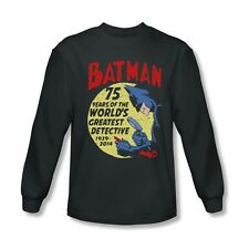 Batman 75th Year Anniversary Detective Licensed Adult Long Sleeve S-XXL