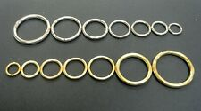 x10 Welded O-Rings Brass & Nickel Plated Various Sizes,Webbing,Bags,Straps,Leads