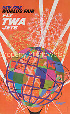 Vintage TWA Airlines travel print poster, large 4 sizes available