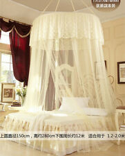 New Mosquito Net Fly Insect Protection Canopy Single Entry Twin Queen King Beige