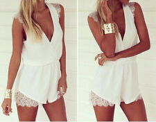 Sexy Women Celeb Lace Playsuit Evening Party Summer Chiffon Dress Jumpsuit Short