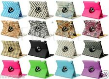 360 Rotating Smart Cover Case in Leather with Swivel Stand For Apple iPad 2 3 4