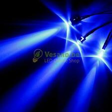 2 LEDs With Cable 5mm Blue 12000mcd LED Cable for 3V-24V Furniture PC Car