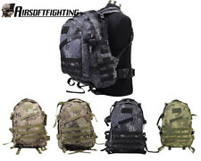 4Color US Army Tactical Hunting 3Day Molle Assault Backpack Bag Black Camo A