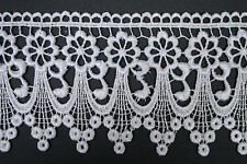 "Unotrim 3"" Ivory White Floral Guipure Venice Lace Ribbon Trim By Yardage"