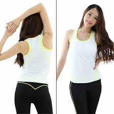 Women Fitness Yoga gym sports pants top workout clothes Black M triplex Medium i