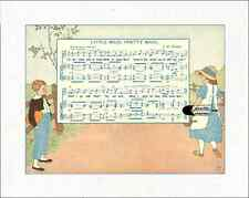"""Mother Goose  Quilt Block Songs reproduced from 1915 book 100% cotton 8"""" x 10"""""""