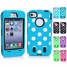 CHEAP 3-in-1 Stylish Silicone Hybrid Hard Phone Case Cover For Apple iPhone 4/4S