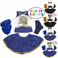 Womens High School Glee Musical Printable Cheerleader Uniform w/ Pompoms Panty