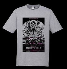 The Man With The Iron Fists Tshirt A87 Cult Film Reprint T-Shirt Grey Wu tang