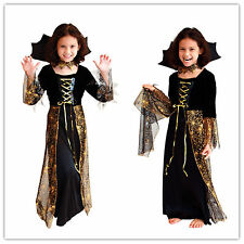 Children Kids Fancy Dress Halloween Spider Witch Cosplay Costume M L XL Size