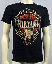 Authentic NIRVANA EST 1988 Guitar Stamp T-Shirt S M L XL 2XL Kurt Cobain NEW