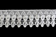 Unotrim 3 inches White and Ivory Venice Lace Trim By Yardage