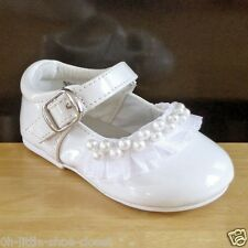 White Pageant Dress Party Shoes Baby Infant & Toddler Size 2,5,6