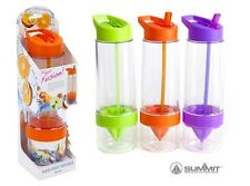 New Summit Fruit Infusion Bottle Water Mixer With Straw Bright Colours Kitchen