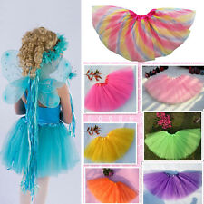 Girls Kids Tutu Party Ballet Dance Wear Dress Skirt Pettiskirt Costume Tulle USA