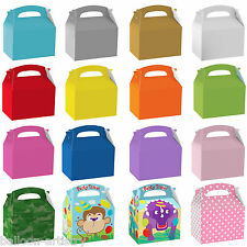 Kids Children's Birthday Coloured Party Supplies Paper Gift Food Lunch Boxes