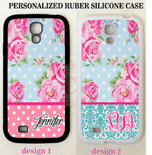 PINK POLKA DOTS TEAL DAMASK ROSES MONOGRAM Case For Samsung Galaxy S7 6 NOTE 7 5
