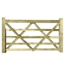 Timber Diamond Braced 5 Bar Field Farm Gate - Choose Size - Larch