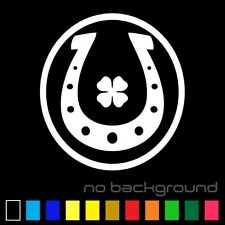 Horseshoe Clover Sticker Vinyl Decal - Good Luck Horse Shoe Lucky Car Window