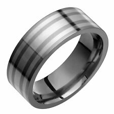 New Titanium .925 Sterling Silver Ring Wedding Band Free Engraving Size 4 - 12